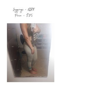 Light gray NIKE leggings